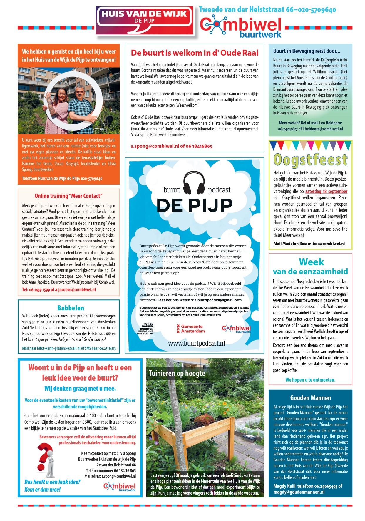 Achterpagina De Pijp Krant Augustus
